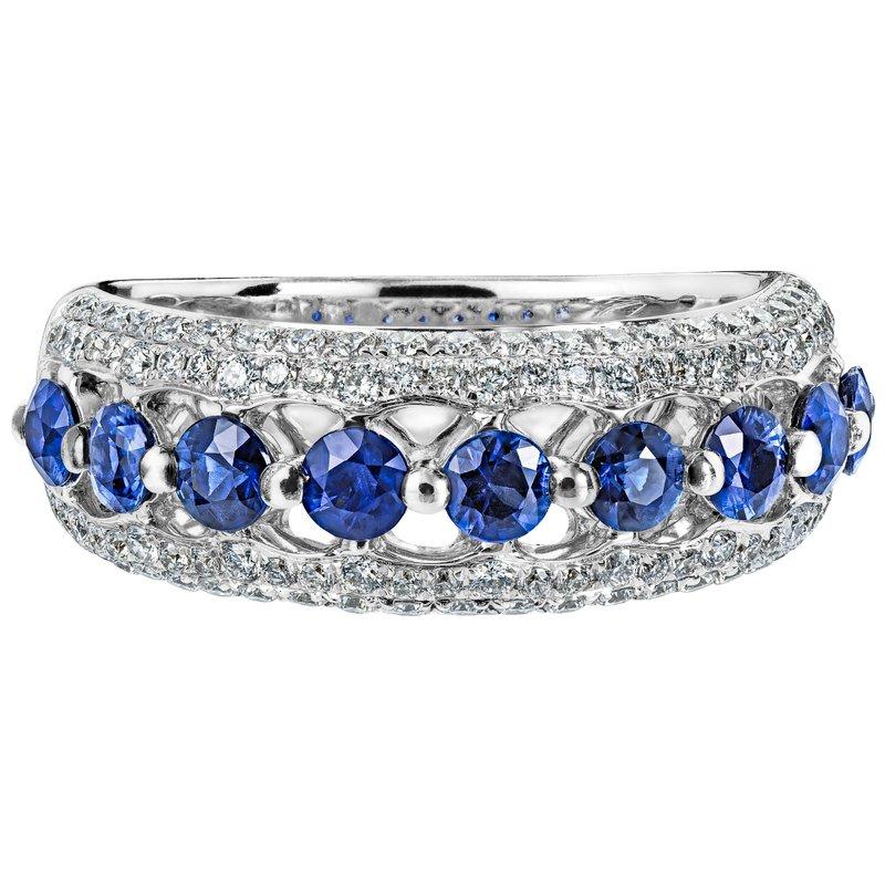 Sapphire and Diamond Band