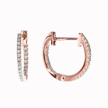 Diamond Huggie Earrings- 13mm