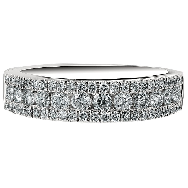 Diamond 3-Row Ring
