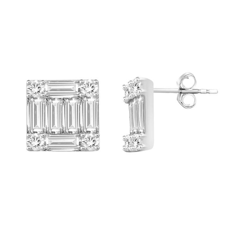 Checkerboard Stud Earrings