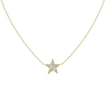 Single Diamond Star Pendant