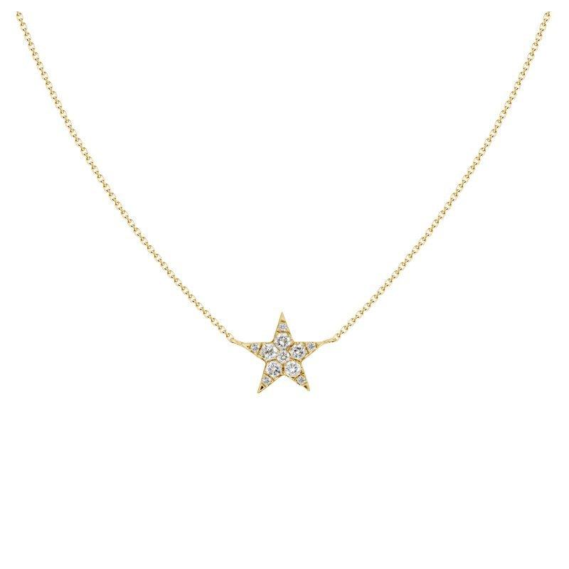 Single Diamond Star Pendant