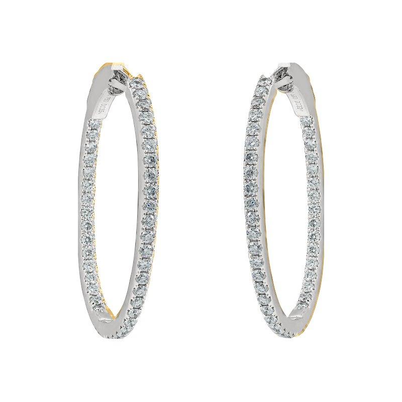 Medium Oval Hoop Earrings