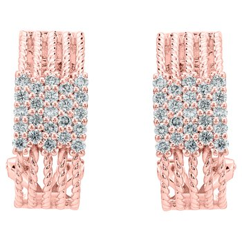 Diamond Rope Earrings