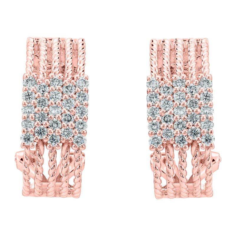Diamond Rope Earrings