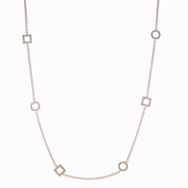 Diamond Circles Necklace