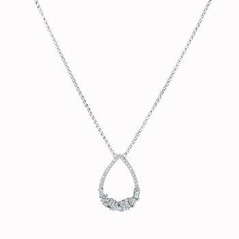 Diamond Pear Shape Drop Necklace