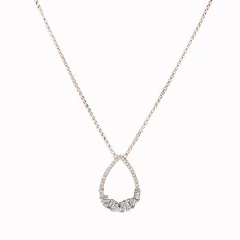 Diamond Pear Shape Drop Necklace