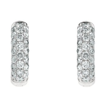 Medium Pave Huggie Earrings