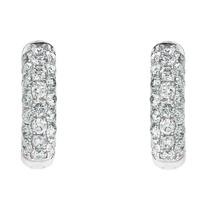 Medium Pave Huggie Earrings