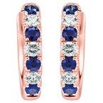 Sapphire and Diamond Huggie Earrings