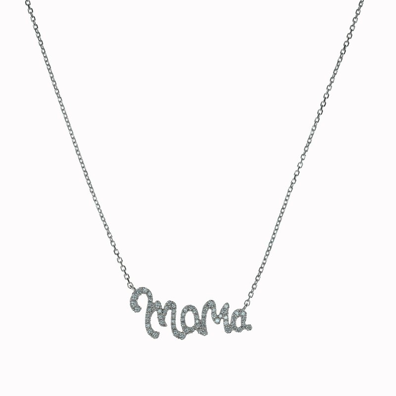 "Diamond ""Mama"" Necklace"