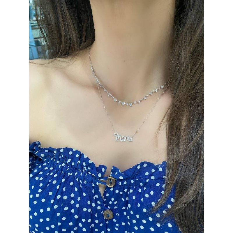 """Diamond """"Mama"""" Necklace"""