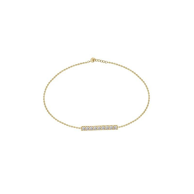 18k Gold Bar Bracelet