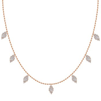 18k Marquise Raindrop Necklace