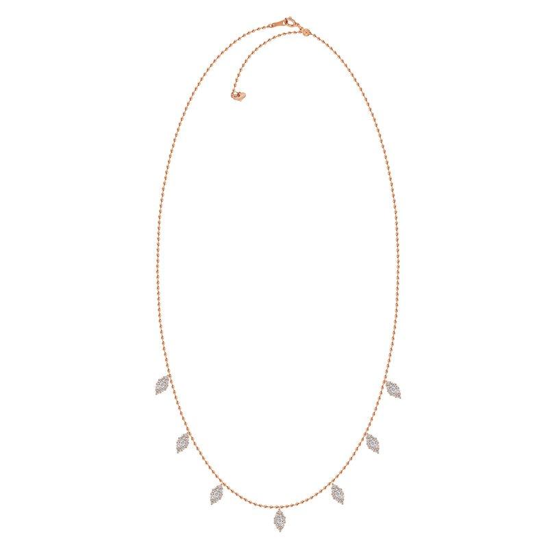 18k Marquise Raindrop Necklace
