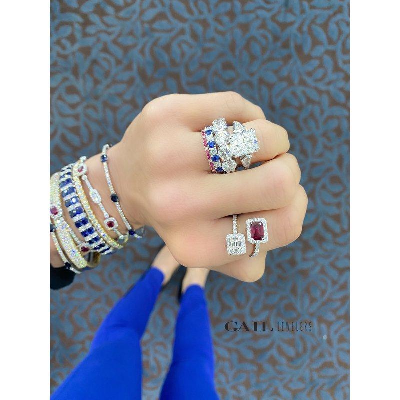 Diamond and Sapphire Eternity Band