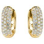 Large Pave Huggie Earrings