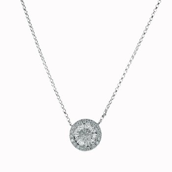 Pinwheel Diamond Necklace