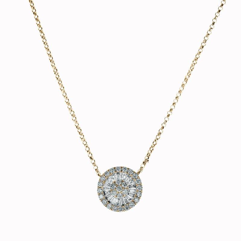 Pinwheel Diamond Necklace