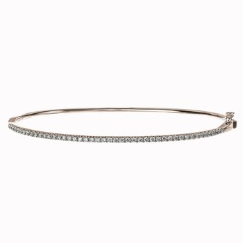 Oval Diamond Bangle Bracelet