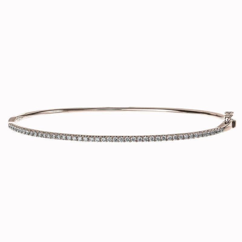 Oval Diamond Bangle Bracelet