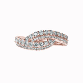 Twisted Diamond Ring
