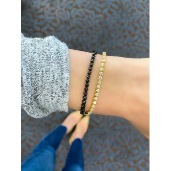 Black Diamond Tassel Bracelet