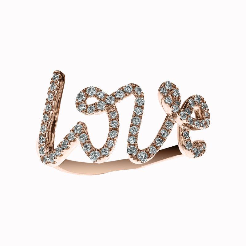Diamond Script LOVE Ring