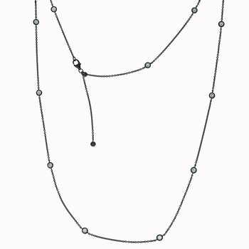 18k Black Gold and Diamond by the Yard Necklace