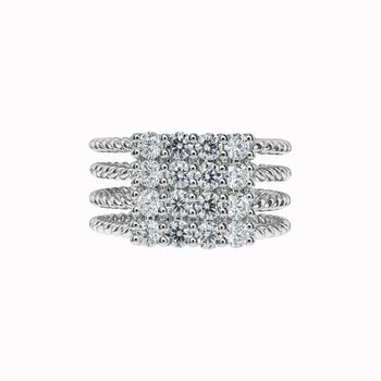 Large Diamond Rope Ring