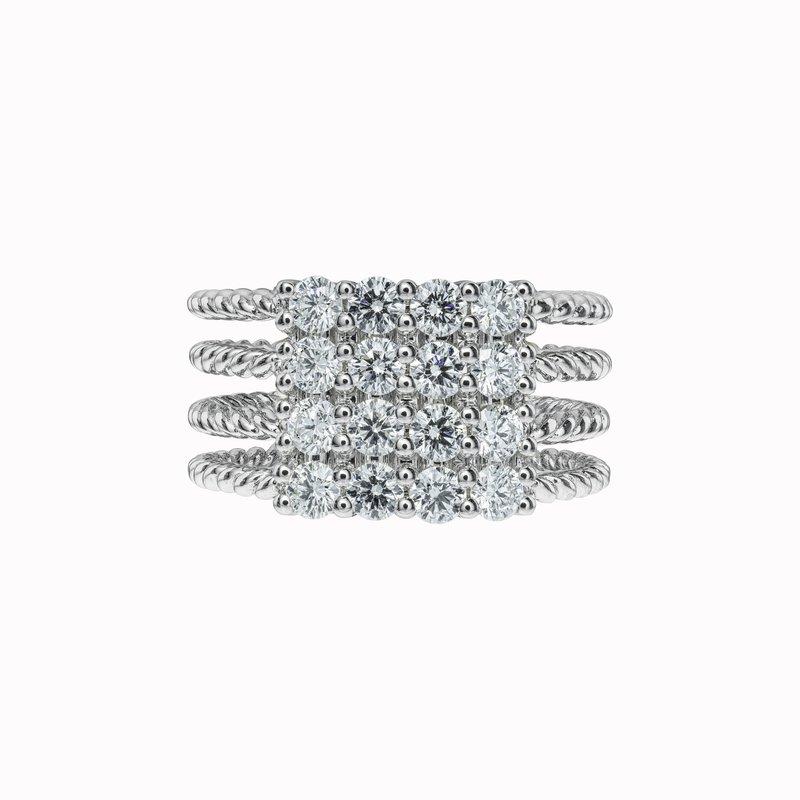 Large Diamond Rope Ring