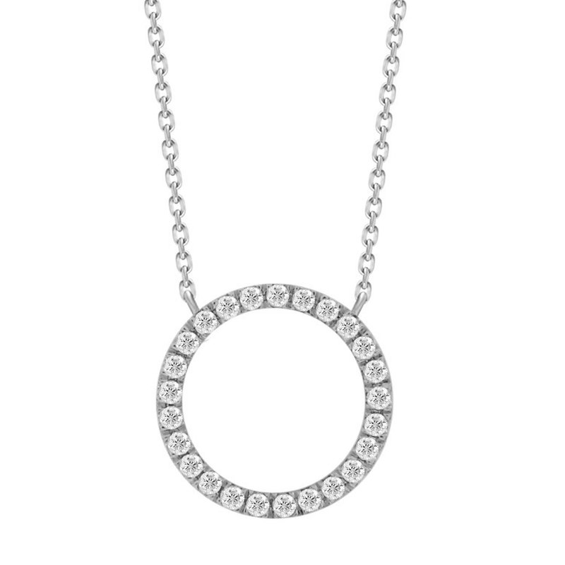 Diamond Circle of Life Necklace