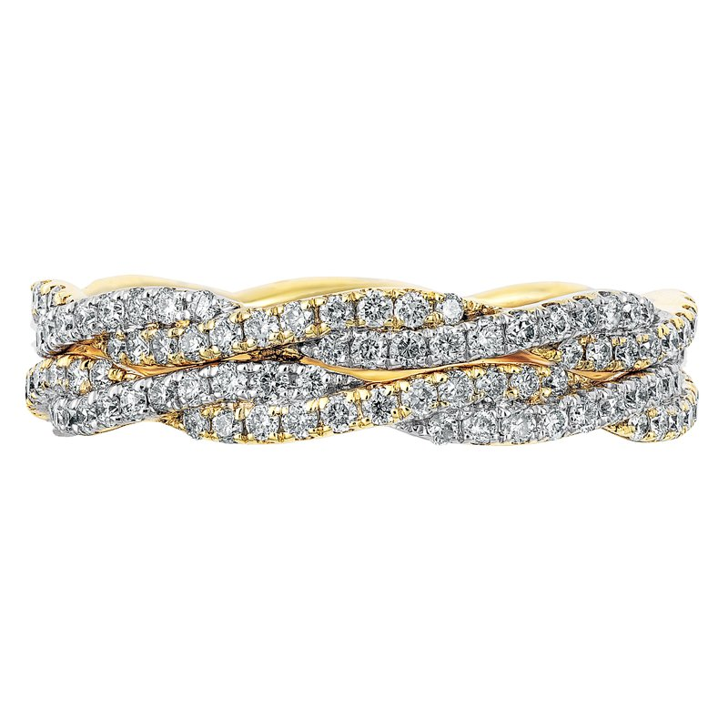 Double Twisted Eternity Band