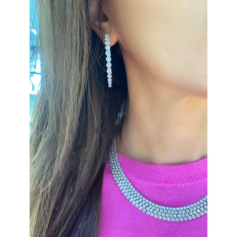 Large GAIL Signature Diamond Hoop Earrings