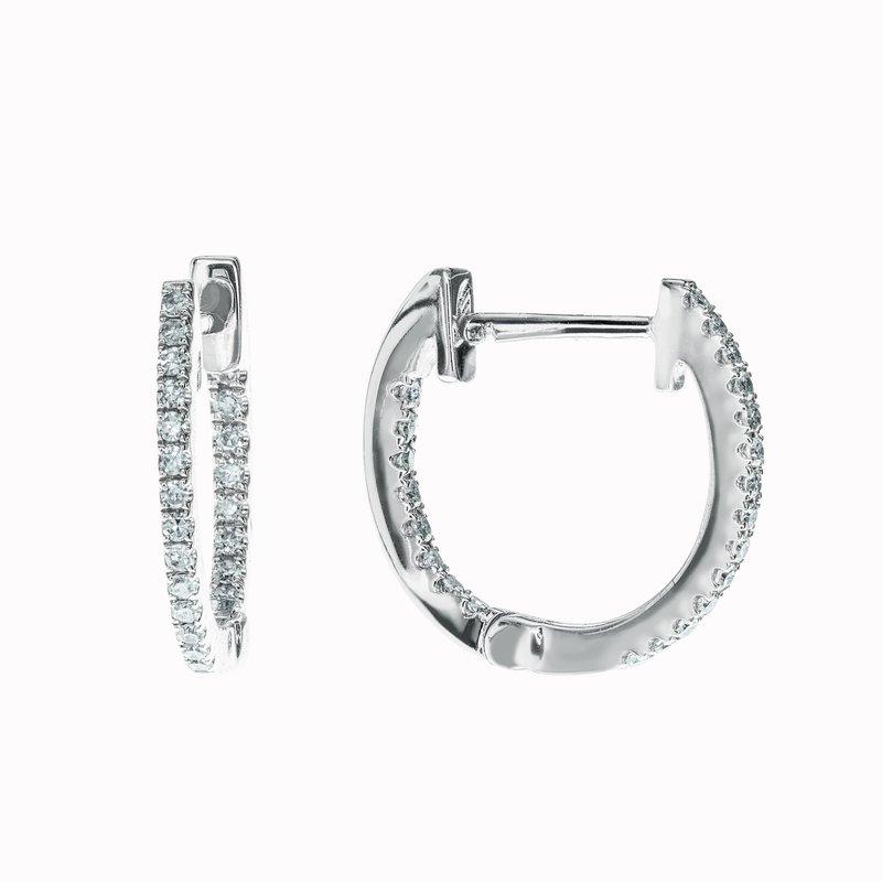 Diamond Huggie Earrings- 12mm