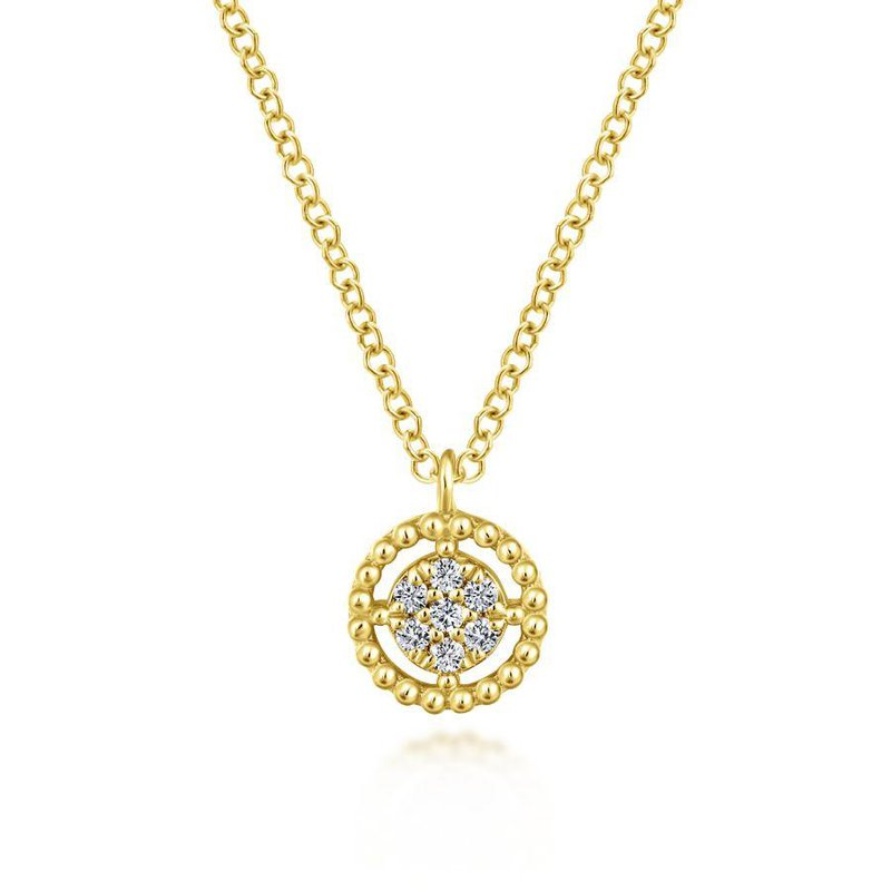 Gabriel Fashion Pave Diamond Circle Pendant