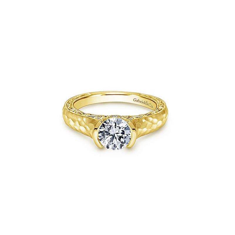 Gabriel Bridal Half Bezel Engagement Ring