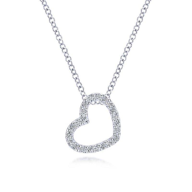 Gabriel Fashion Open Heart Diamond Pendant