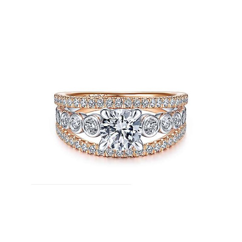Gabriel Bridal Split Shank Engagement Ring