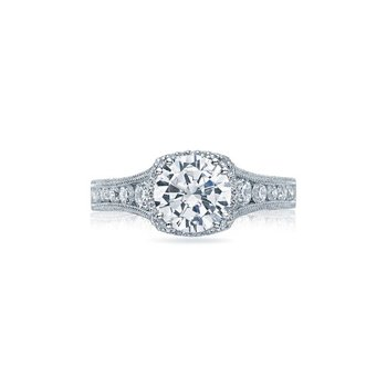Reverse Crescent Solitaire Ring