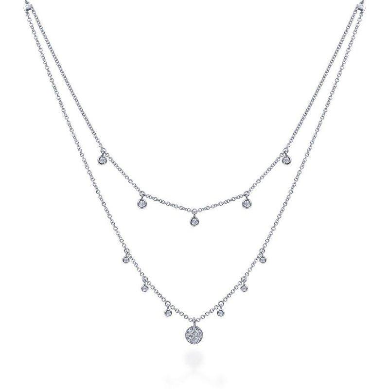 Gabriel Fashion Layered Diamond Necklace