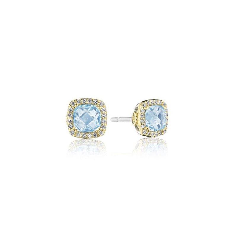Tacori Cushion Bloom Gemstone Earrings