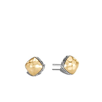 Classic Chain Hammered Sugarloaf Stud Earring