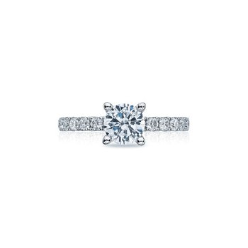 Clean Crescent Solitaire Ring