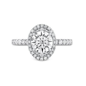 Juliette Oval Halo Diamond Ring