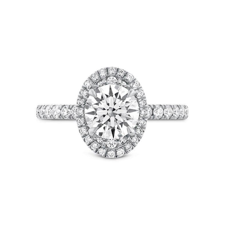 Hearts on Fire Juliette Oval Halo Diamond Ring