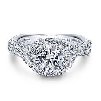 Platinum Halo Ring