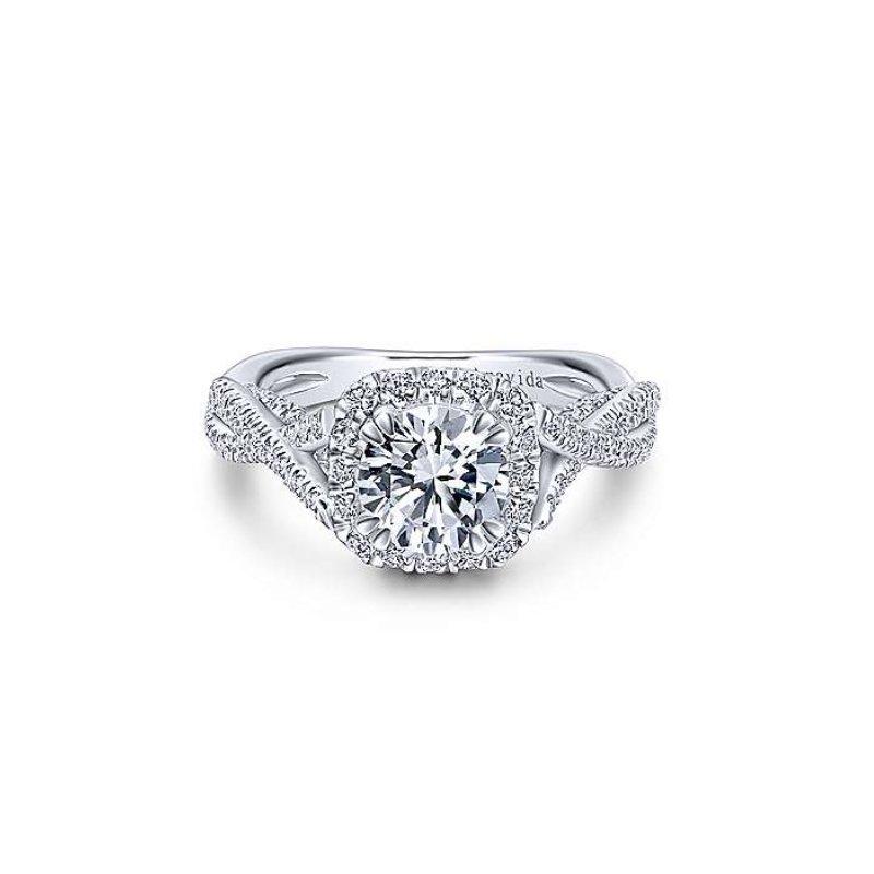 Gabriel Bridal Platinum Halo Ring