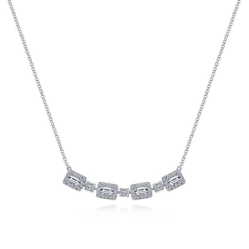 Gabriel Fashion Diamond Bar Pendant